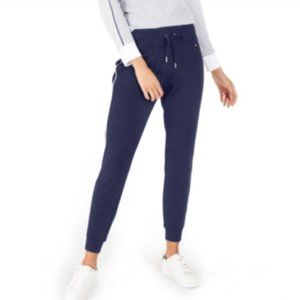 Tommy Hilfiger Sweat pants Joggers Navy Blue with Side Stripe Size L Large